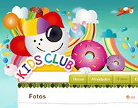 KidsClub - Site e Material de E-mail Marketing