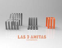 Las 3 Anitas, a set of park benches