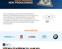 Website desenvolvido para empresa de comunicação
