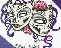 theatre Mask / Mascaras de teatro