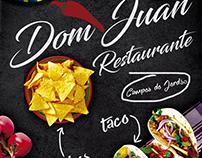 Flyer restaurante Dom Juan