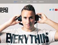 Desarrollo one page para DJ Español
