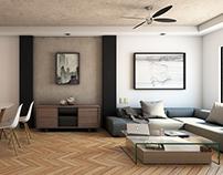 Espacio Interno- B° Dent, San José. Diseño, 3D & Render