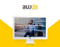 AUXIS - Web Site, Landing Page, Social Media.