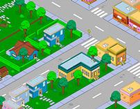 Videogame: Unreleased isometric Neighborhood