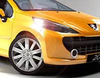Render e Iluminación Studio - Peugeot 207