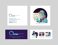 Business cards / Web Design for Osom Creative Agency