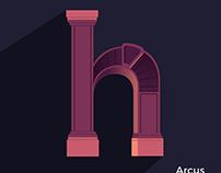 Arcus Greece - Digital Art flat design