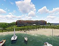 Diseño Arquitectónico y Fachada Paramétrica de Hotel