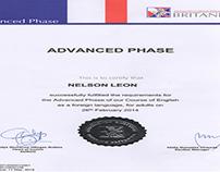 Certificado de Inglés(Nivel Avanzado)