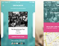 Test diseño app iOS - Events & Music
