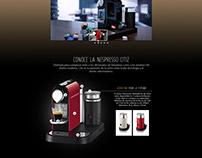 Diseño Web de Producto Cafetera Nespresso City