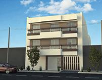 Modelado 3D para proy. inmobiliario. Edif. de viviendas