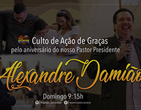Invitation for a Birthday of a Pastor