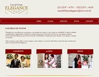 Layout do site - Casa de Festas Elegance - Fotos