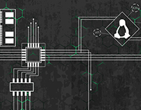Manjaro Linux dual monitor wallpaper
