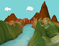 Valley Low Poly 3D