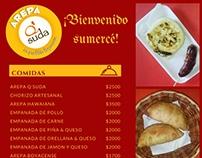Menú publicitario para negocio local ArepaQSuda
