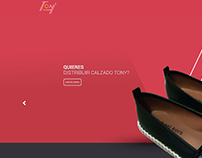 Calzado Tony website.