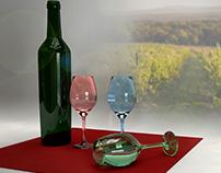 Render botella de vino