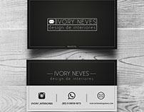 Cartão de visita, Ivory Interiores.