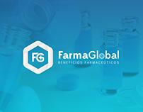Logotipo, Papelería y Sitio Web FarmaGlobal