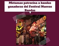 Nota de prensa - Metamax en Festival Nuevas Bandas
