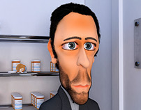 Dr. House - Realistic Ilustration