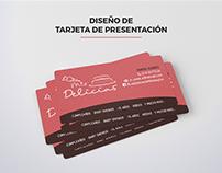 Diseño de Tarjeta de Presentación para Mis Delicias