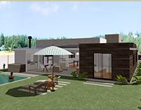 Model 3D of house holy day / Modelo 3D de vivienda