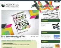 pagina web para Agua Viva Internacional