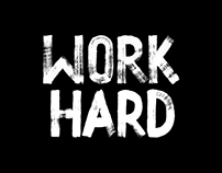 Work Hard Calligraphy