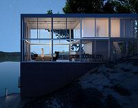 Espacios Arquitectónicos. 3D-Max, V-Ray, Photoshop.