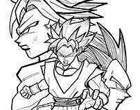 3 Saiyans. Dragon Ball