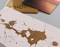 Material gráfico da marca de moda feminina MOB