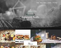 Página web de un restaurante
