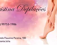 Cartão de Visita - Cristina Depilações