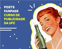 Posts - Fanpage do curso de Publicidade da UFC