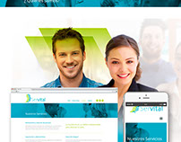 Servital (developed in Wordpress) Custom Design.