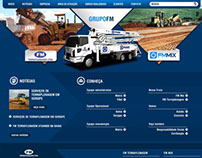 Projeto, desenho e montagem site Grupo FM