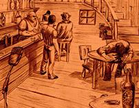 Bar illustration / Ilustração Bar
