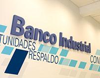 Identidad para sucursal de Banco Industrial.