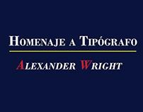 Afiche tipográfico    Homenaje a tipógrafo