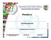 Certificados Sincelejo Model United Nations