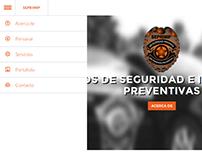Sitio web para empresa de seguridad privada