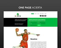 Landing Page ACIERTA - Propuesta 2015