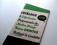 Catálogo festival de teatro UNINTER