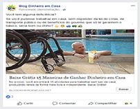 Exemplo de anúncio no Facebook Ads