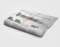 Diagramación y diseño de periódico La Mordida