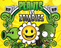 Ilustrando Plants y Zombies